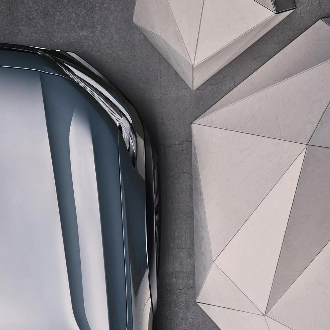 머슬 블루 메탈릭 Volvo V90 크로스 컨트리 전방
