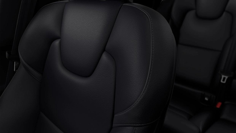 볼보 V90 크로스 컨트리 좌석 덮개 근접샷.